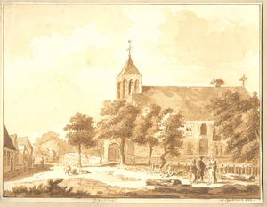Tricht, gezicht in het dorp met de kerk
