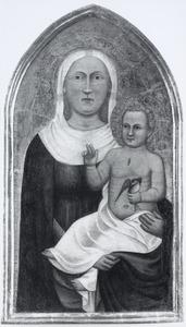 Maria en Christuskind met een vogeltje in de hand