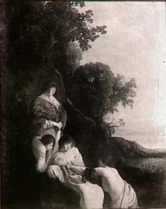 Farao's dochter vindt Mozes in het biezen mandje (Exodus 2:5-6)