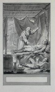 Illustratie bij 'De held en zijn knecht' uit de Fabelen en vertelsels van F.C. Gellert