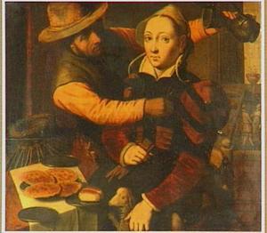 Een man en een vrouw in een herberg