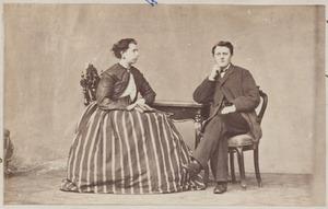 Portret van Anthoon Christiaan Willem ter Meulen (1842-1909) en Gesina Dirks (1842-1870)