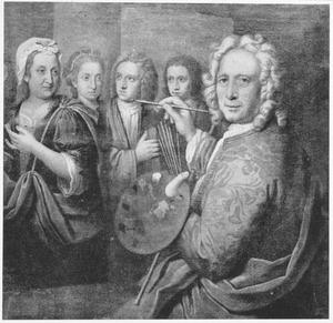 De kunstenaar die zijn vrouw Anne-Maria Campo (?-?) en hun kinderen portretteert