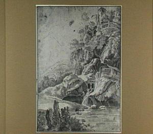 Italianiserend rivierlandschap (Tivoli?)