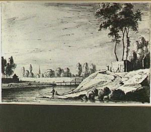 Het Lepelenburg in Utrecht met houten brug naar de Maliebaan