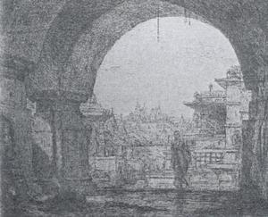 De ingang van een tempel te Palitana