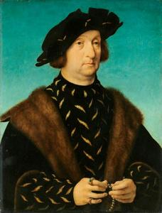 Portret van een man met rozenkrans