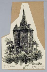 Hoektoeren van het kasteel te Hoensbroek