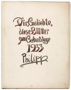 Titelblad van het schetsboek