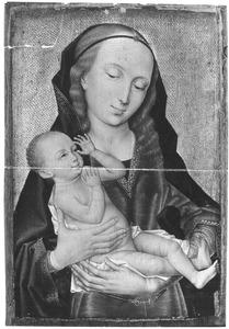 Maria met kind tegen een gouden achtergrond