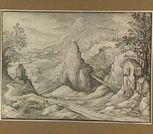 Berglandschap met in het dal een rivier
