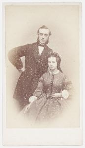 Portret van Jhr. Pieter Anthony Jacob Stoop (1829-1899) en Antonia Modderman (1836-1911)