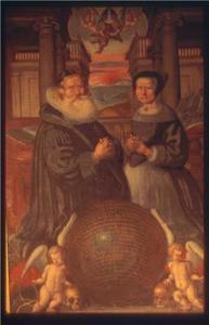 Epitaaf met portret van Mads Peersen Aalborg en zijn vrouw Hildeborg Chritophersdatter