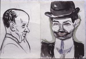 Mansportret - twee studies