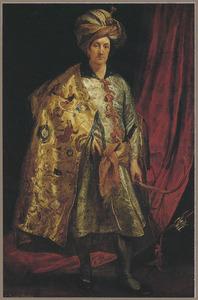 Portret van Sir Robert Shirley (?-1628) als ambassadeur in Perzië