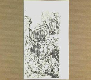 De tyran Phalaris laat zijn vijanden in de door Perillus vervaardigde bronzen, gloeiende stier opsluiten