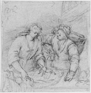 Twee vrouwen met manden