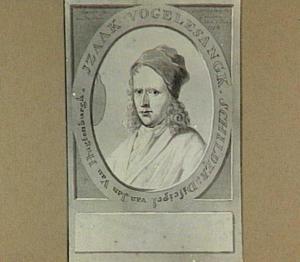 Portret van Izaak Vogelensanck (1688-1753), met palet en schildersmuts