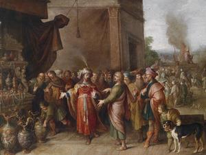 Croesus toont Solon zijn rijkdommen