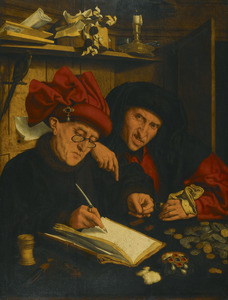 Twee belastingontvangers in een interieur