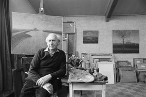 Dirk Breed in zijn atelier