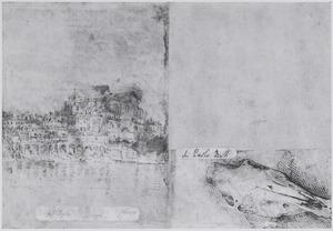 San Giovanni dei Fiorentini en studie van een paardenschedel