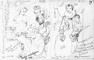 Kopie van Rubens' Venus, Mars en Cupido (DPG285) en van Cornelis de Vos' Maria Van der Goes (1555-1642) (DPG290)