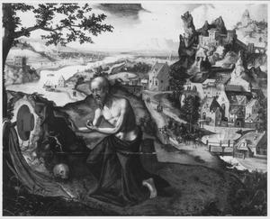 Rivierlandschap met de boetvaardige H. Hieronymus