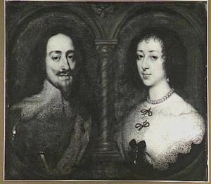 Dubbelportret van Karel I Stuart (1600-1649), koning van Engelend en Henriëtta Maria de Bourbon, koningin van Engeland (1609-1669)