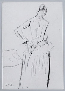 Vrouw zich kledend