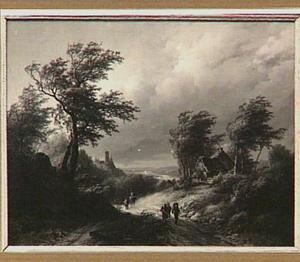 Berglandschap bij stormachtig weer