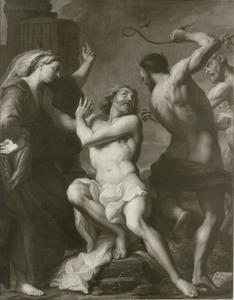 Job op de mesthoop mishandeld en gekweld door Satan (Job 2:7-13)