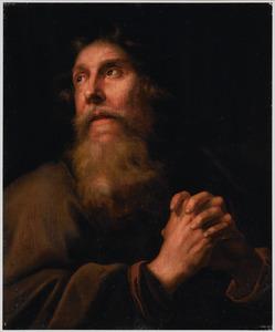 Een biddende oudere man, mogelijk de boetvaardige apostel Petrus