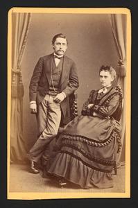Portret van Jan Albert van Gilse (1843-1915) en Augusta Maria Hockelmann (1843-1925)