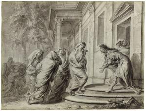 Pyreneus verwelkomt de muzen (Metamorfosen)