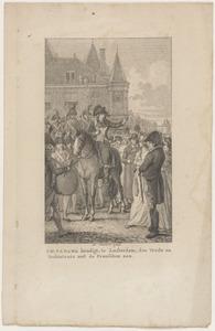 H.W. Tadema kondigt te Amsterdam den vrede en verbintenis met de Franschen aan (18 mei 1795)