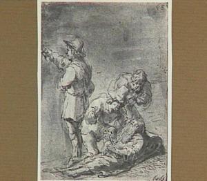 De stervende kluizenaar maakt zijn testament (Lazarillo de Tormes dl. 2, cap. 19, p. 115)