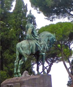 Ruiterstandbeeld van Koning Umberto I van Italië