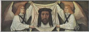 Zweetdoek van Heilige Veronica door twee engelen vastgehouden