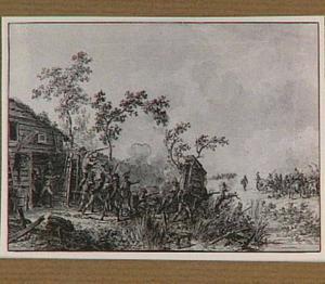 Veldslag met Franse infanterie