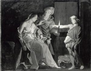 Stellio bespot de godin Ceres vanwege haar dorst  (Metamorfose V, 446-461)