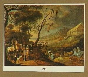 Landschap met de ark van Noach (Genesis 6:5-22)