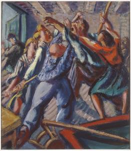 Vechtpartij in de kroeg (Volendam)