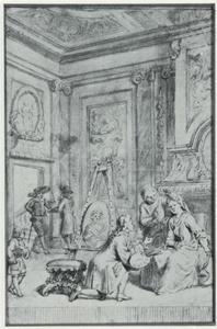 Titelpagina voor de tekst van het blijspel 'De schilder door Liefde', ed. 1716