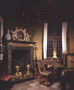 De Schrijfkamer (Studiolo) van Christian IV op kasteel Rosenborg. Kopenhagen