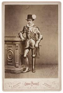 Portret van Albert Joseph baron van Rijckevorsel van Kessel (1859-1930) als Prins Willem van Oranje