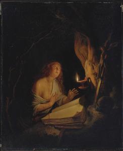 Boetvaardige Maria Magdalena bij kaarslicht