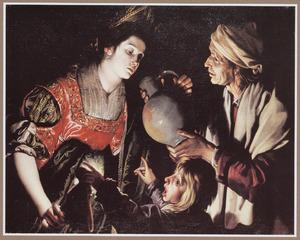 De godin Ceres uitgelachen door het jongetje Stellio omdat zij haar dorst te gretig zou lenigen