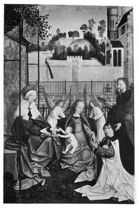 Maria met kind, de HH. Anna en Jozef en de stichter