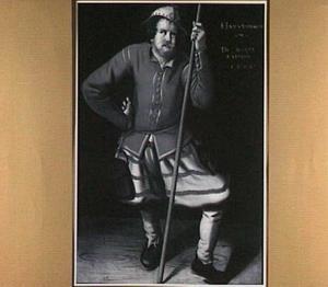 Portret van een nar, mogelijk Hans Voorbruec geheten